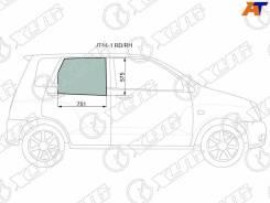 Стекло заднее правое опускное Mitsubishi Dingo 98-02/Hafei Simbo 06-08 [JT44-1 RD/RH]
