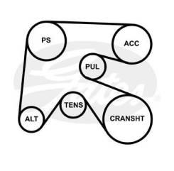 Поликлиновой ремень 6PK1763 (8653-10385) [6PK1763]