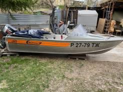 Продам лодку г Вельбот 46М с мотором Мекури 40 ЕО Wellboat-46 в Томске