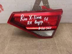 Фонарь правый - вставка в дверь / крышку багажника Kia Rio X-Line (2017-Н. в. ) [92404H0200]