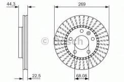 Диск тормозной | перед | Bosch 0986479779