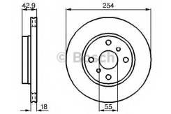 Диск тормозной | перед | Bosch 0986478585