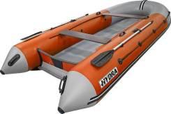 Надувная лодка ПВХ, Hydra NOVA-Plus 380 НДНД, оранжевый-св. серый, PRO