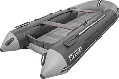 Надувная лодка ПВХ, Hydra NOVA 380 НДНД, серый-св. серый, PRO, (PC)