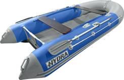 Надувная лодка ПВХ, Hydra Delta 365 НДНД, синий-св. серый, PRO, (PC)