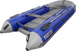 Надувная лодка ПВХ, Hydra NOVA 380 НДНД, синий-св. серый, PRO, (PC)