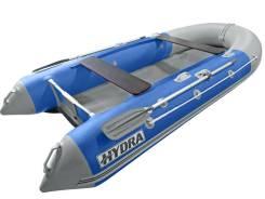 Надувная лодка ПВХ, Hydra Delta 380 НДНД, синий-св. серый, LUX, (PC)