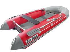 Надувная лодка ПВХ, Hydra Delta 365 НДНД, красный-св. серый, LUX, (PC)