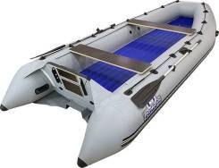 Надувная лодка ПВХ, Выдра 430 АЯН, разъемный транец, серый