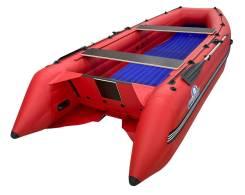 Надувная лодка ПВХ, Шерпа 430 JET, красный