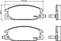 Колодки тормозные дисковые, передние, Mitsubishi Rocsta, Galant I-II, L 200, L 300, Delica II NP4000 [NP4000]
