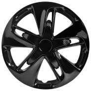 """Колпаки колесные 16 """"Супер Астра"""", черный глянец карбон, комплект 4 шт."""