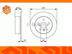 Диск тормозной Bosch 0986479R06 задний