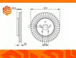 Диск тормозной Bosch 0986479722 передний