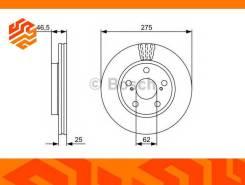 Диск тормозной Bosch 0986479428 передний