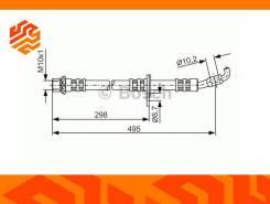 Шланг тормозной Bosch 1987476963 правый передний