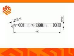 Шланг тормозной Bosch 1987476076 задний