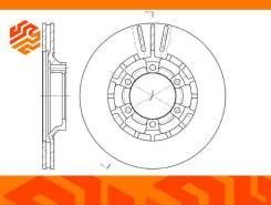 Диск тормозной вентилируемый G-Brake GR02137 передний