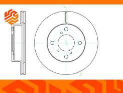 Диск тормозной вентилируемый G-Brake GR20642 передний