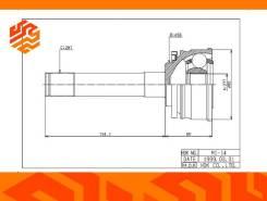 ШРУС привода HDK MI014 передний (Япония)