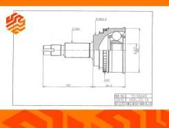 ШРУС привода HDK TO066A48 передний (Япония)
