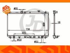 Радиатор системы охлаждения JD JPR0085