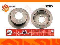 Диск тормозной TRW DF4483 задний