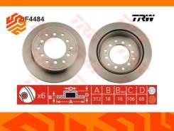 Диск тормозной TRW DF4484 задний