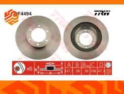 Диск тормозной TRW DF4494 передний
