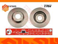 Диск тормозной TRW DF4760S правый передний