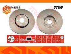 Диск тормозной TRW DF4855S левый передний