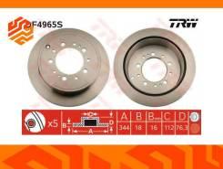Диск тормозной TRW DF4965S задний