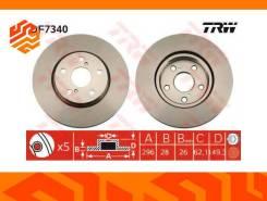 Диск тормозной TRW DF7340 передний