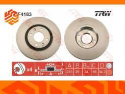 Диск тормозной TRW DF4183 передний