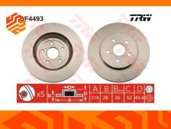 Диск тормозной TRW DF4493 передний