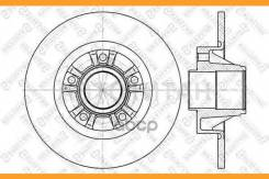 Диск тормозной задний! с подш. и кольц. ABS Opel Vivaro, Renault Trafic all 01> Производитель: Stellox 6020-3658-SX_ [60203658SX]