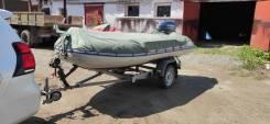 Лодка Салар 420 джет, мотор ямаха 40 водомeт и телега