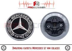 Эмблема капота (заглушка) Mercedes Black