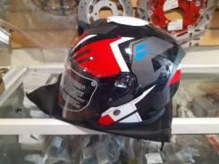 Шлем Kioshi 526 открытый со стеклом и очками