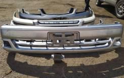 Бампер передний Toyota Chaser, GX100, JZX100, JZX101, JZX105, 1998-2001, б/у серебро 1