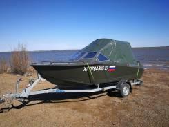 Продам лодку Север 4800 с мотором Yamaha 50 и прицепом