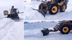Снежный отвал на экскаватор-погрузчик New Holland B90B, B115B
