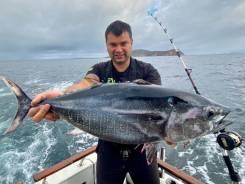 Дикий Тунец во Владивостоке. Трофейная рыбалка. Аренда катера.