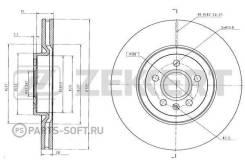 Диск торм. перед. Volvo S90 II 16- V90 II 16- XC60 II 17- XC40 17- Zekkert BS6425