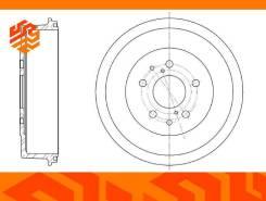 Барабан тормозной G-Brake GD06053 задний