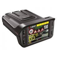 """Видеорегистратор с радар-детектором автомобильный Inspector Barracuda на лобовое стекло, 2Мп, 1920х1080, обзор 135°, экран 2.4"""", GPS"""