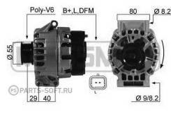 Генератор 75A Renault Megane/Kangoo/Espace/Laguna 1.4/1.6/2.0 97 ERA 210523 210523_